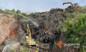 Se incendia celda en basurero de Hidalgo; desde abril se advirtió riesgo